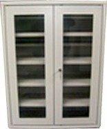 Szafka narzędziowa przeszklona, 4 regulowane półki (wymiary: 1000x800x300 mm) 77157201