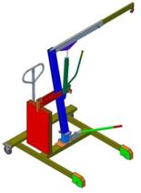 Tretok 61742359 Żuraw hydrauliczny obrotowy ręczny (udźwig: od 300 do 500kg)