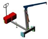 Tretok Żuraw hydrauliczny ręczny z przeciwwagą (udźwig: od 220 do 500 kg) 61764863