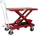 Wózek platformowy nożycowy (udźwig: 1000 kg, wymiary platformy: 1010x520 mm, wysokość podnoszenia min/max: 445-950 mm) 0301625