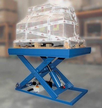 43268369 Podnośnik nożycowy (udźwig: 500 kg, wymiary platformy: 900x600 mm, , wysokość podnoszenia min/max: 280-1180 mm)