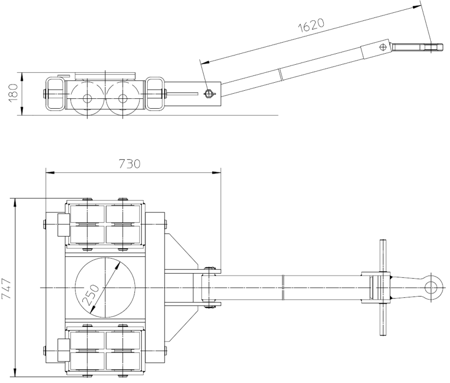 DOSTAWA GRATIS! 4993999 Podwozie transportowe (nośność: 20T)