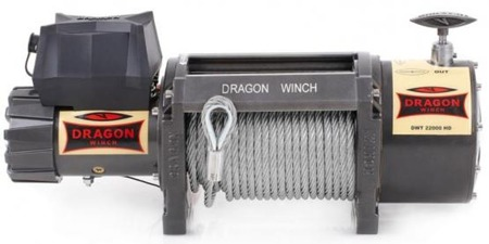 55972510 Wyciągarka samochodowa Dragon Winch Truck DWT 22000 HD 24V z liną stalową 28m, hamulec dynamiczny (udźwig: 22000 lb/ 9979 kg, silnik: 9,2KM)