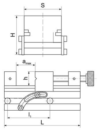 DOSTAWA GRATIS! 02861376 Imadło precyzyjne (szerokość szczęk: 160 mm)