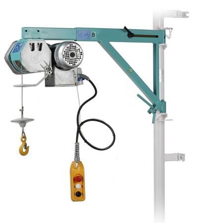 DOSTAWA GRATIS! 05668335 Wciągarka linowa budowlana z przedłużanym wysięgnikiem (udźwig: 150 kg, wysokość podnoszenia: 40 m)
