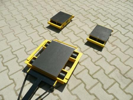 DOSTAWA GRATIS! 12235632 Zestaw wózków z prostokątną płytą nośną, rolki: 20x stal (nośność: 36 T)