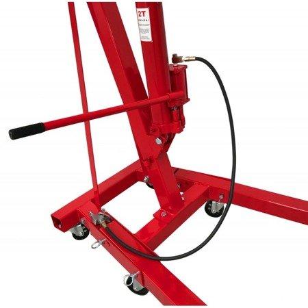 DOSTAWA GRATIS! 1607012 Żuraw warsztatowy, pompa hydrauliczno pneumatyczna (udźwig: 2 T)