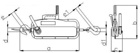 DOSTAWA GRATIS! 2203110 Wciągnik linowy, rukcug 30.00/1.6t (długość liny: 20m, udźwig: 1,6 T)