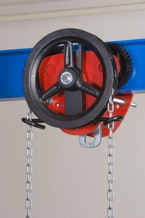 DOSTAWA GRATIS! 22038992 Wózek jedno-belkowy z napędem ręcznym Z420-B/3.2t/4m (wysokość podnoszenia: 4m, szerokość dwuteownika od: 106-226mm, udźwig: 3,2 T)