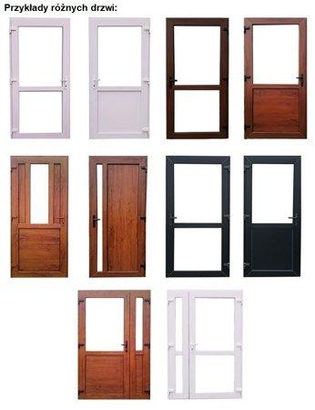 DOSTAWA GRATIS! 26269148 Drzwi zewnętrzne sklepowe (kolor: biały, strona: lewa, szerokość: 90 cm)