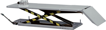 DOSTAWA GRATIS! 310615 Stół podnośny do motocykli (udźwig: 500 kg, wymiary platformy: 2200x700 mm, wysokość podnoszenia min/max: 170-800 mm)