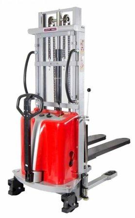 DOSTAWA GRATIS! 31066199 Wózek podnośnikowy półelektryczny (wysokość unoszenia: 3500mm, udźwig: 1000 kg)