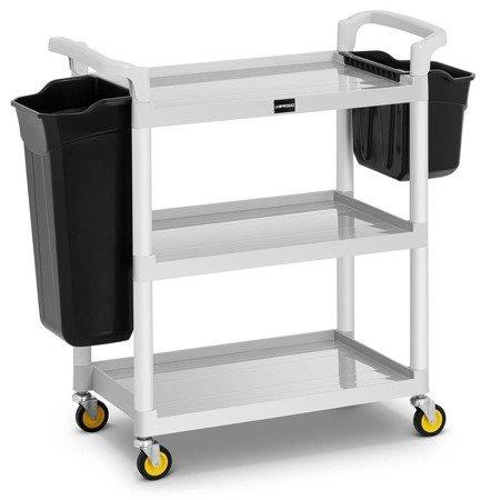 DOSTAWA GRATIS! 45674766 Wózek hotelowy Uniprodo - 2 plastikowe pojemniki  (maks. obciążenie: 150 kg)