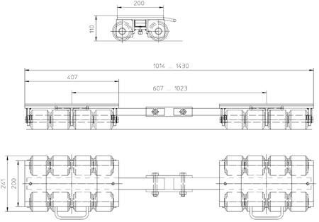 DOSTAWA GRATIS! 4993996 Podwozie transportowe (nośność: 18T)