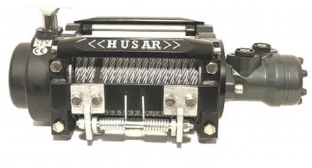 DOSTAWA GRATIS! 51971675 Wyciągarka hydrauliczna Husar z liną stalową (uźwig: 15000lbs / 6804 kg, długość liny: 25,5m)