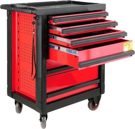 DOSTAWA GRATIS! 65669923 Wózek, szafka serwisowa z narzędziami, 6 szuflad, 177 narzędzia
