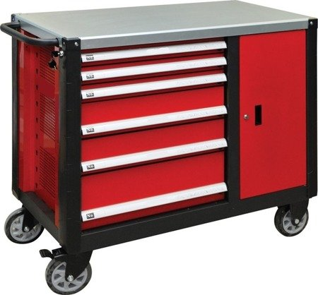 DOSTAWA GRATIS! 65669924 Wózek, szafka serwisowa, 6 szuflad (wymiary: 100x113x57 cm)