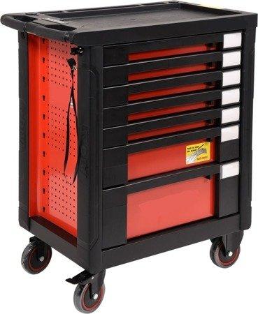 DOSTAWA GRATIS! 65669927 Wózek, szafka serwisowa z narzędziami, 7 szuflad, 211 narzędzia (wymiary: 98x77x46,5 cm)
