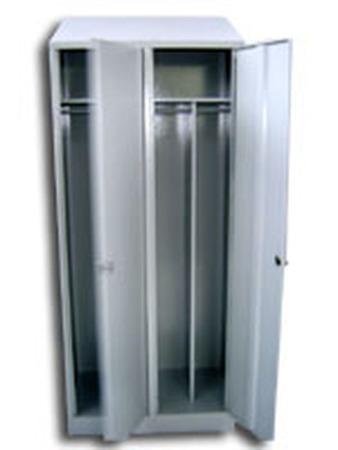 DOSTAWA GRATIS! 77170705 Szafa odzieżowa z przegrodami, 2 drzwi (wymiary: 1800x900x550 mm)