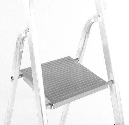 DOSTAWA GRATIS! 99674633 Drabina domowa aluminiowa jednostronna 5 stopniowa (wysokość robocza: 3,10m)