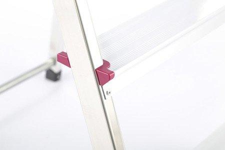 DOSTAWA GRATIS! 99674642 Aluminiowa drabina domowa Krause Corda 4 stopnie (wysokość robocza: 2,80m)
