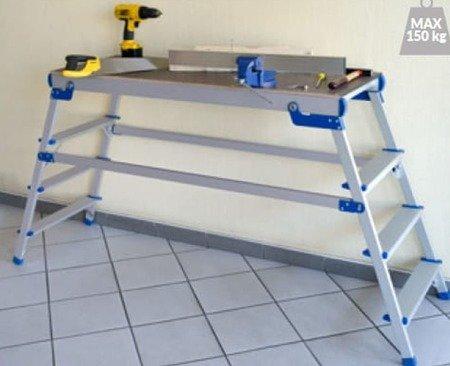 DOSTAWA GRATIS! 99675136 Aluminiowy podest roboczy (wysokość robocza: 2,92m)