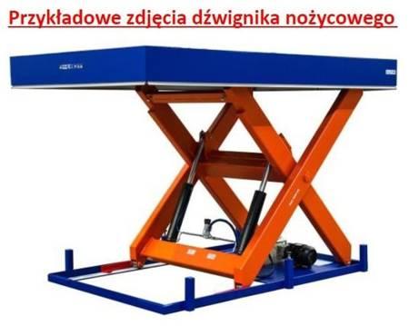 Dźwignik nożycowy hydrauliczny (udźwig: 4000 kg, wymiary platformy: 3000x2400mm, wysokość podnoszenia min/max: 405-2005mm, moc: 3,6kW) 03076245