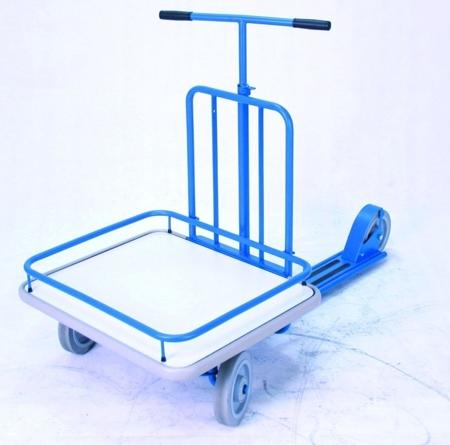 Hulajnoga z platformą GermanTech 690x585 mm, niebieska (udźwig: 150 kg) 99724878