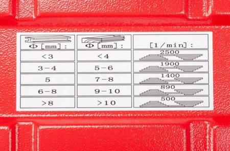 LETA Wiertarka frezarka stolowa słupowa kolumnowa (max. wielkość wiertrłą/stożek: 16mm, moc: 1600 W) 21777644