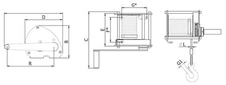 Wciągarka linowa bez liny (udźwig: 1,0 T) 22076832