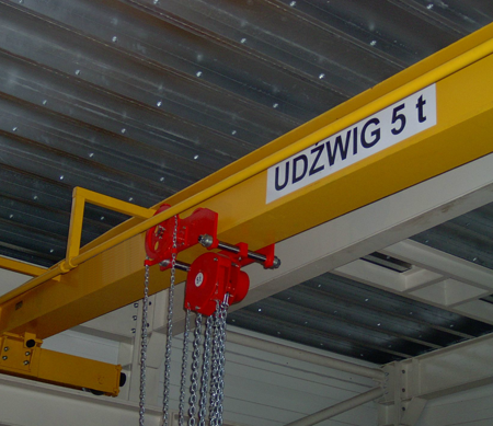 Wciągnik łańcuchowy przejezdny (udźwig: 3,2 T, wysokość podnoszenia: 10m, zakres toru jeznego: 220 mm) 95877702
