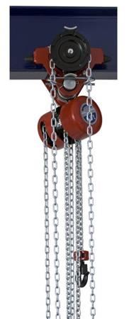 Wciągnik łańcuchowy przejezdny (wysokość podnoszenia: 3m, szerokość belki: 58-226 mm, udźwig: 0,5 T) 22077024
