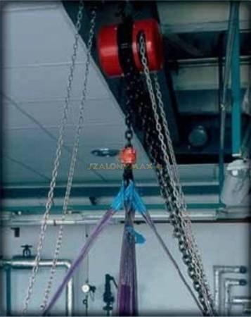 Wciągnik łańcuchowy z przekładnią planetarną (wysokość podnoszenia: 3m, udźwig: 0,25 T) 22076988