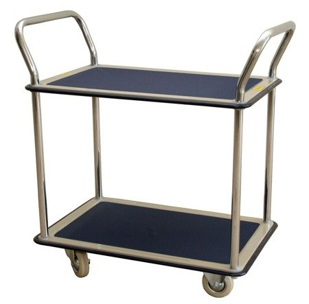 Wózek platformowy dwupółkowy (udźwig: 120 kg, wymiary platformy: 740x480 mm) 03076055