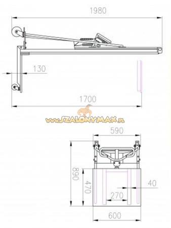 Wózek podnośnikowy elektryczny (udźwig: 100 kg) 310413