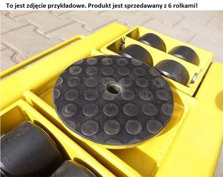 Wózek skrętny z otworem fi 21 w płycie nośnej, 6 rolkowy, rolki: 6x stal (nośność: 7 T) 12267433