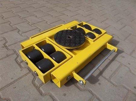 Wózek skrętny z otworem fi 21 w płycie nośnej, 8 rolkowy, rolki: 8x nylon (nośność: 6 T) 12267434