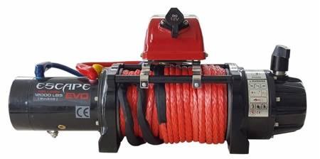 Wyciągarka Escape EVO 12000 lbs [5443 kg] EWB z liną syntetyczną 12V (lina: 10 mm czerwona dyneema 25m 10400kg +hak) 81877735