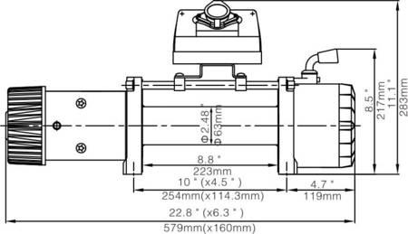 Wyciągarka Escape EVO 12000 lbs [5443 kg] EWX-S z liną syntetyczną 12V (lina:  10 mm w oplocie 25m 10400 kg +hak) 81877742