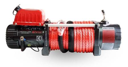 Wyciągarka Escape EVO 12000 lbs [5443 kg] EWX-U z liną syntetyczną 12V (lina: 10 mm szara dyneema 25m 8500kg +hak zdejmowany) 81877744