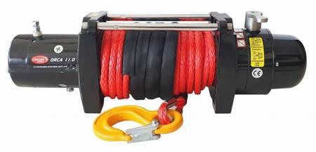 Wyciągarka KingOne ORCA 11.0 [4990kg] z liną syntetyczną 12V (lina: 10mm 25m czerwona 10400kg +hak) 81877871