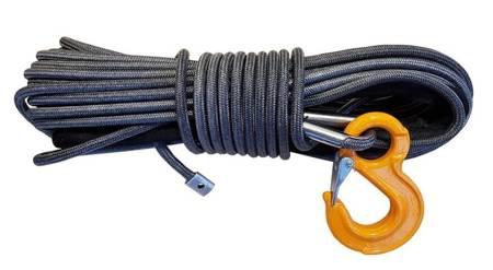 Wyciągarka KingOne ORCA 9,0 [4082kg] z liną syntetyczną 12V (lina: 10mm 28m czerwona 10400kg +hak) 81877877
